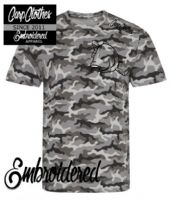 004 EMBROIDERED  CAMO T-SHIRT